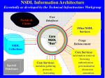 nsdl information architecture essentially as developed by the technical infrastructure workgroup