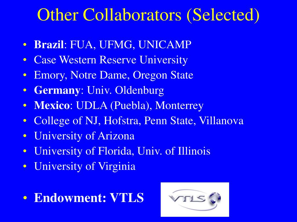 Other Collaborators (Selected)