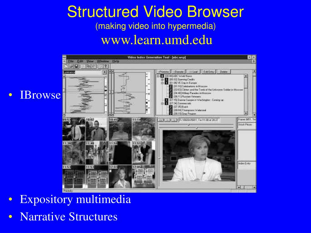 Structured Video Browser