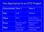 two approaches to an etd progam