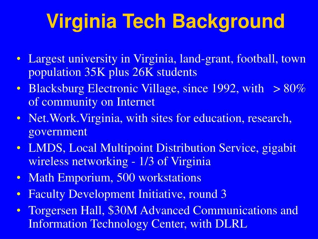 Virginia Tech Background