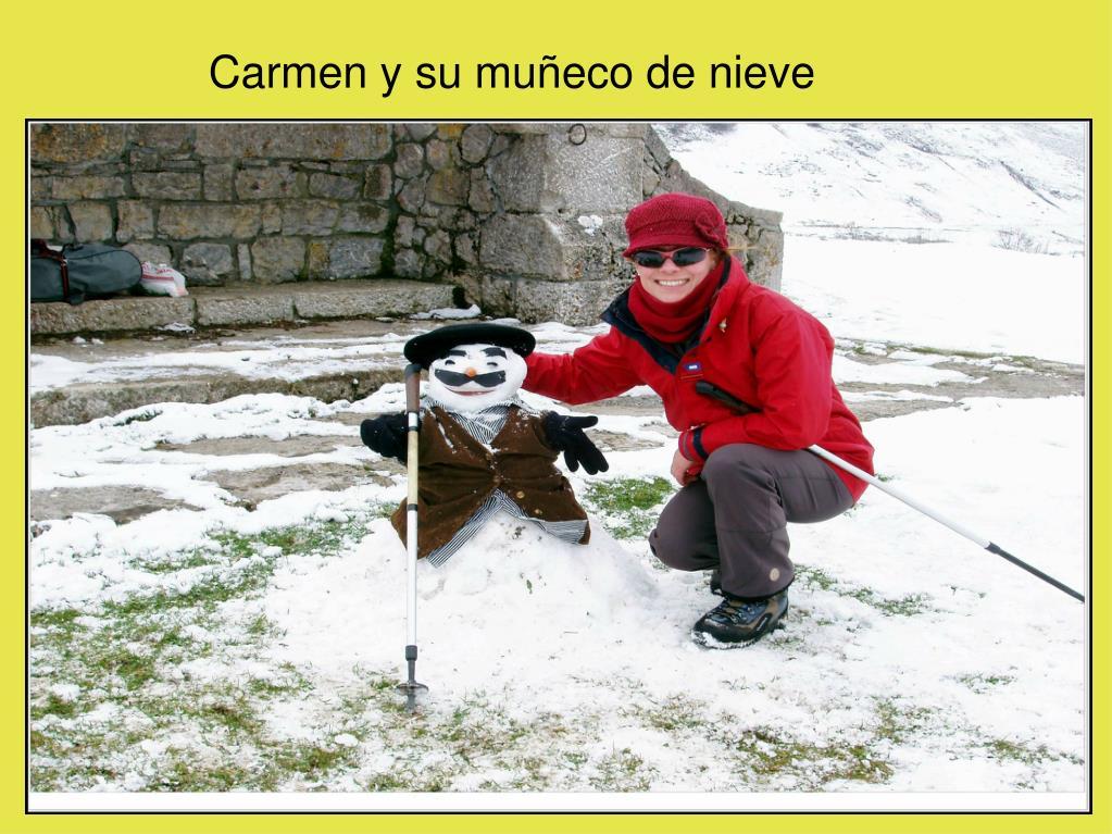 Carmen y su muñeco de nieve