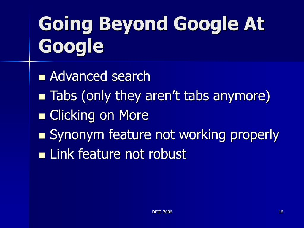 Going Beyond Google At Google