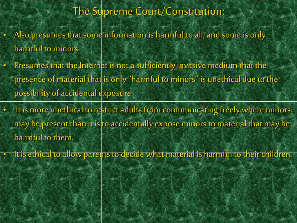 The Supreme Court/Constitution:
