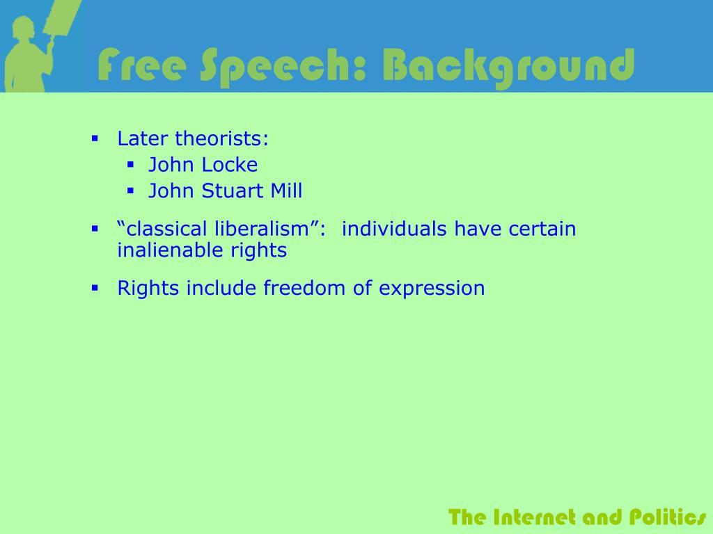 Free Speech: Background