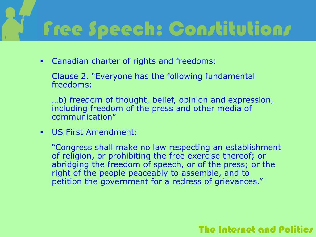 Free Speech: Constitutions