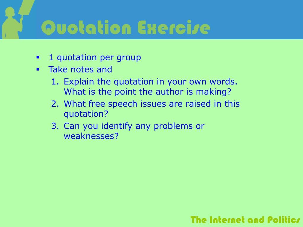 Quotation Exercise