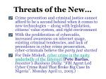 threats of the new