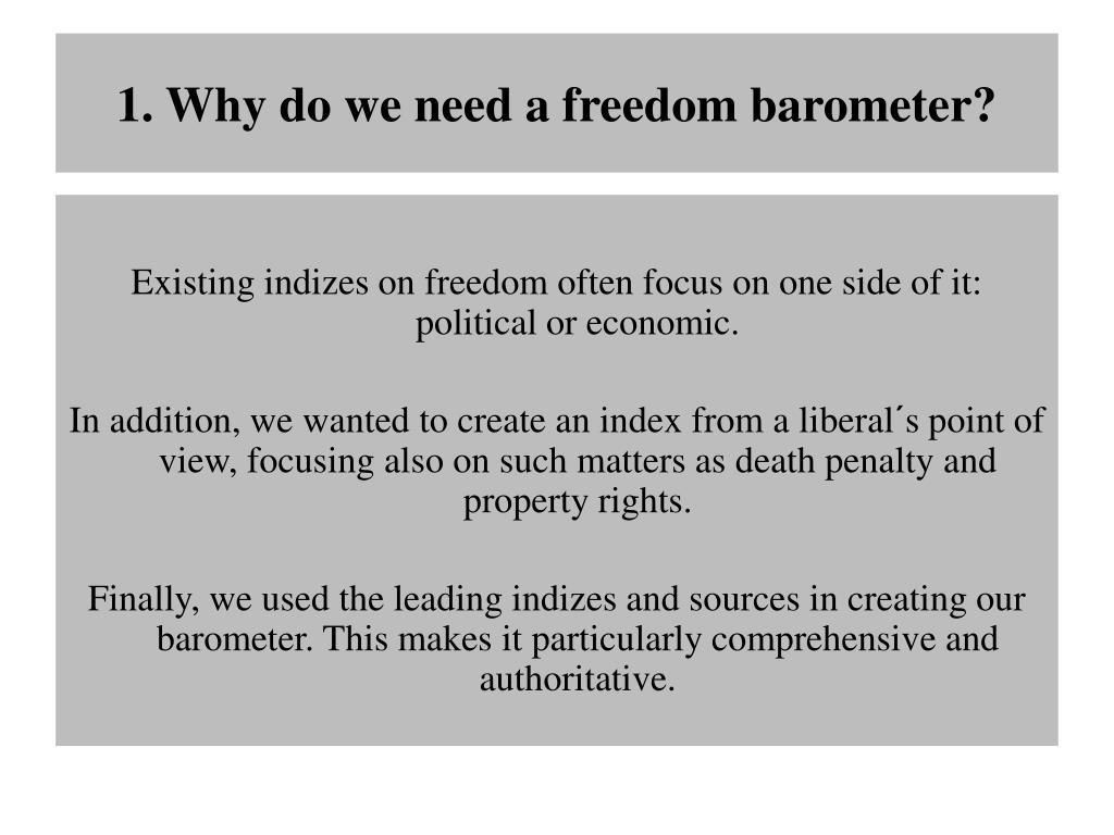 1. Why do we need a freedom barometer?