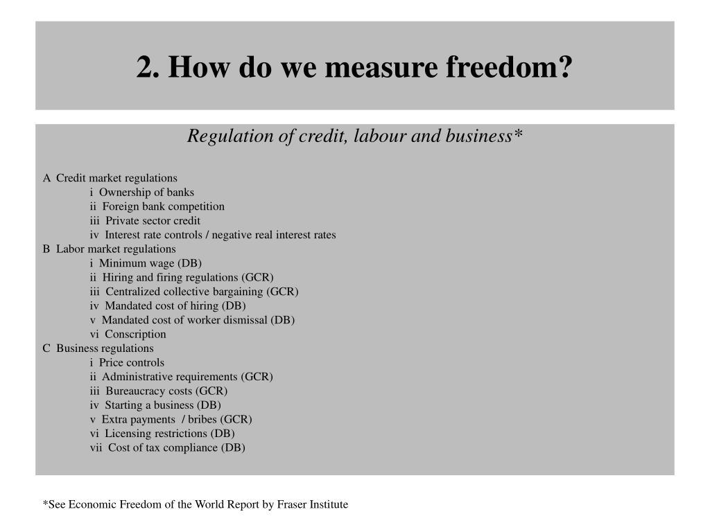 2. How do we measure freedom?