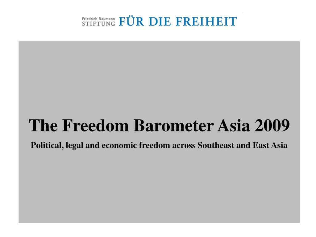 The Freedom Barometer Asia 2009