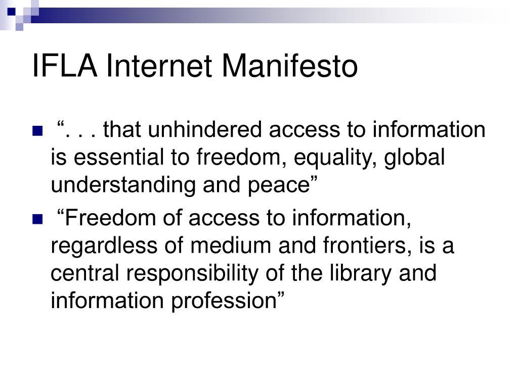 IFLA Internet Manifesto