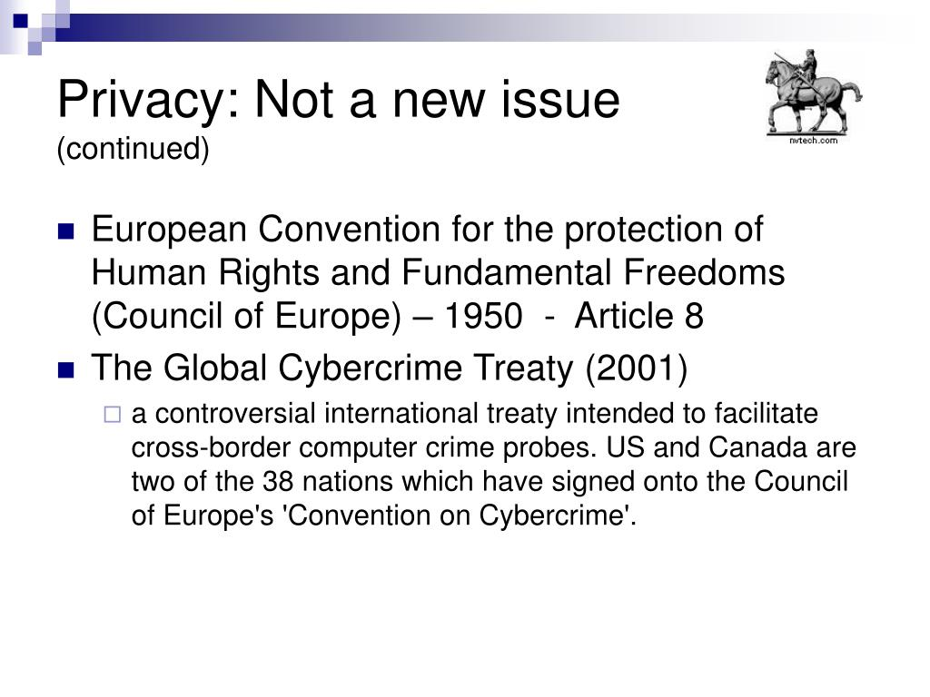 Privacy: Not a new issue