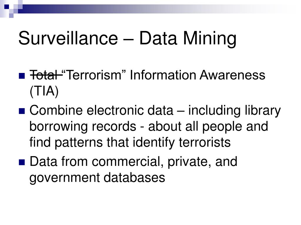 Surveillance – Data Mining
