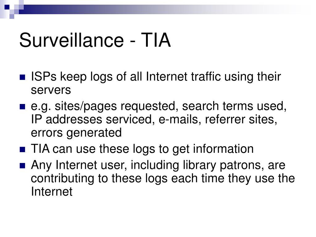 Surveillance - TIA