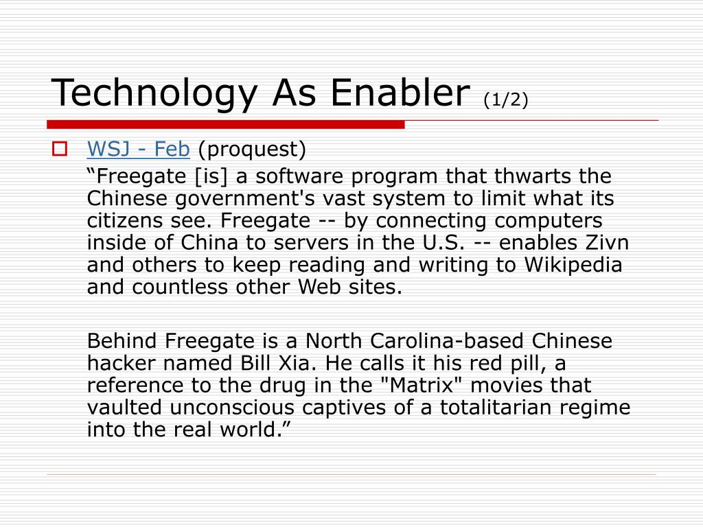 Technology As Enabler
