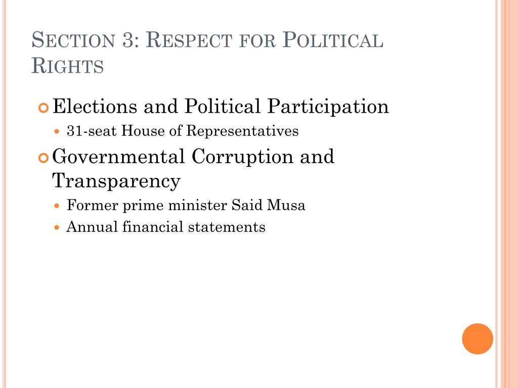 Section 3: Respect for Political Rights