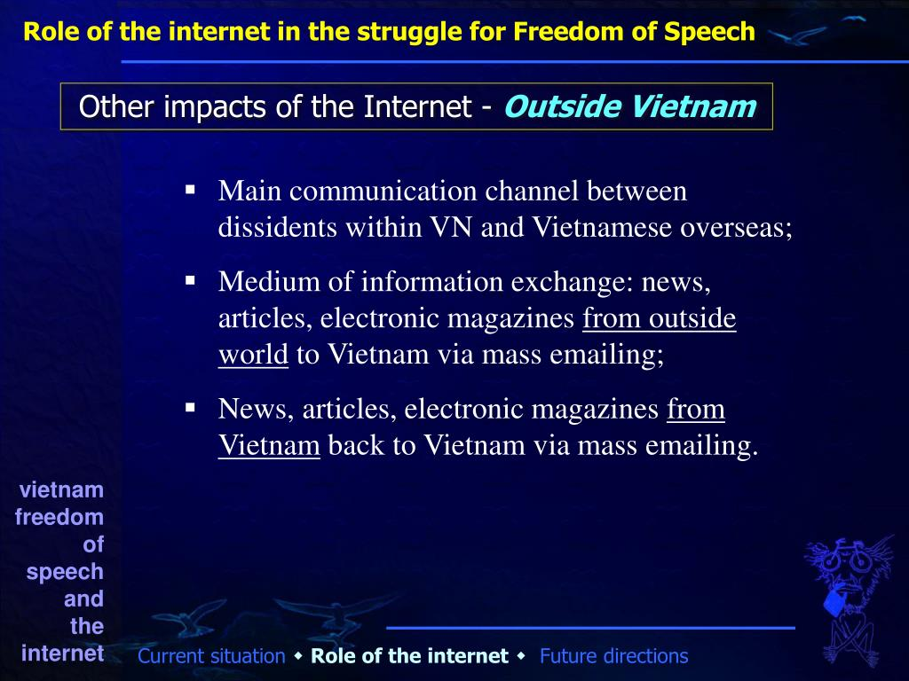 Role of the internet in the struggle for Freedom of Speech