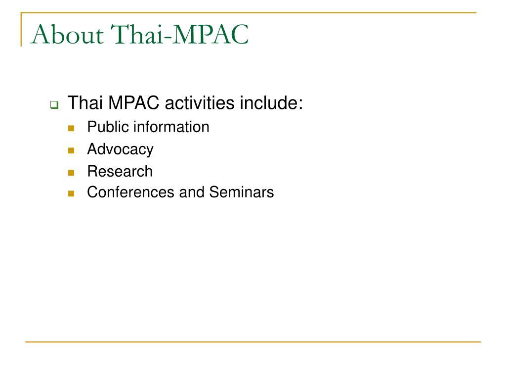 About Thai-MPAC