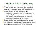 arguments against neutrality