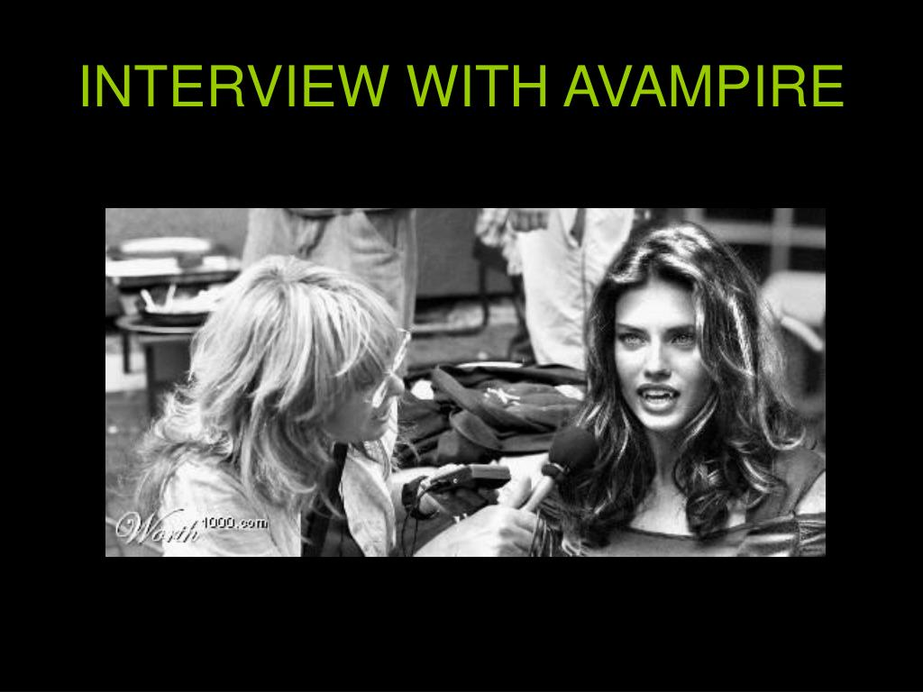 INTERVIEW WITH AVAMPIRE