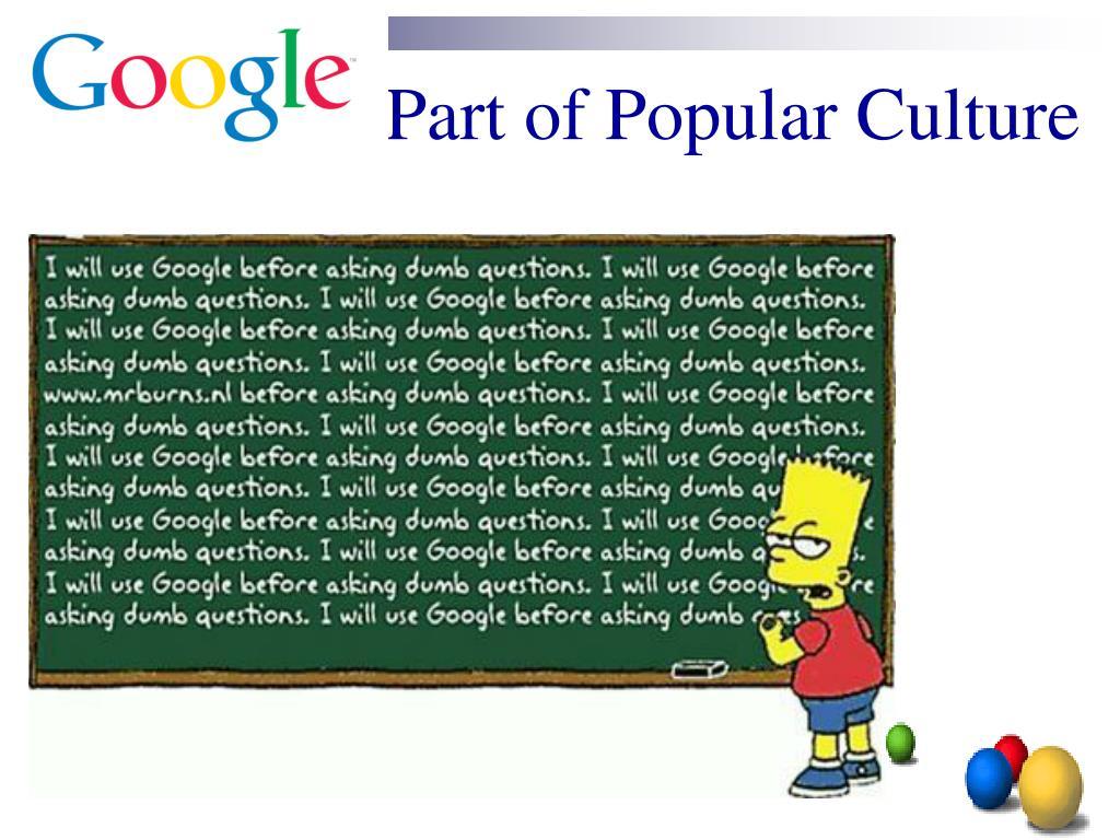 Part of Popular Culture