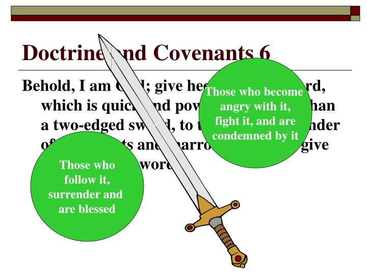 Doctrine and Covenants 6