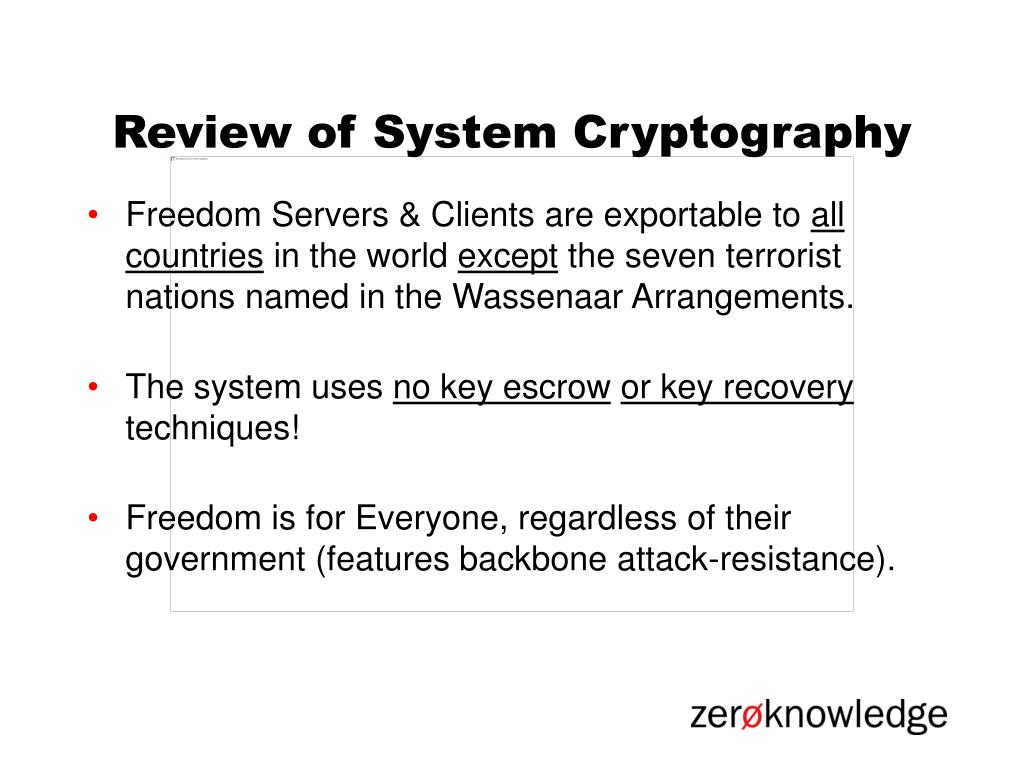 Review of System Cryptography