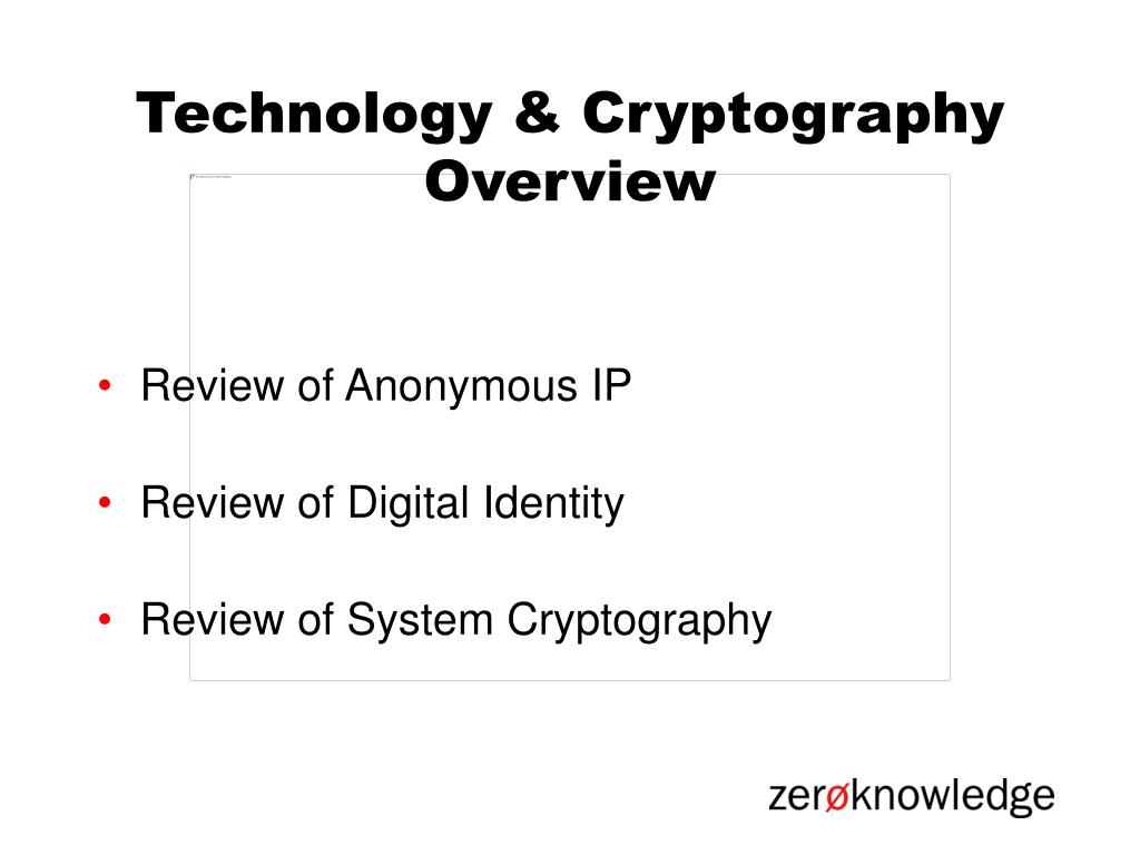 Technology & Cryptography