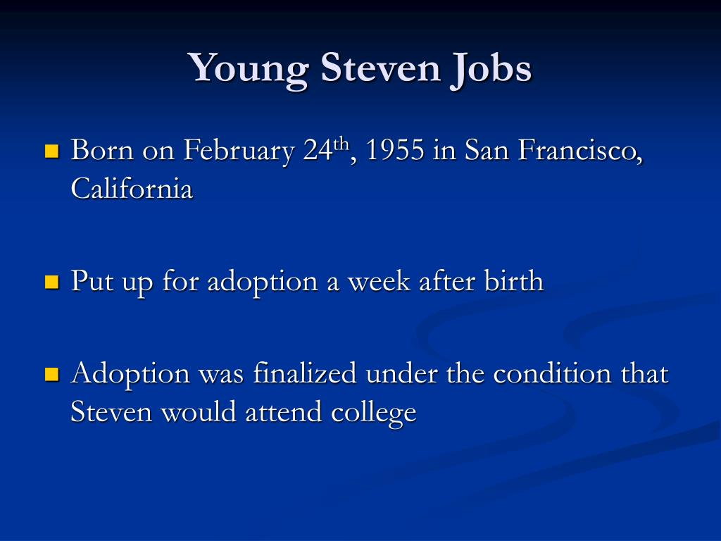 Young Steven Jobs