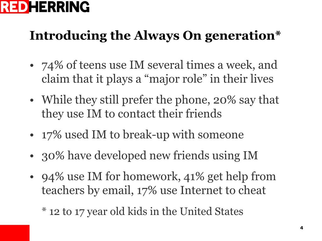 Introducing the Always On generation*