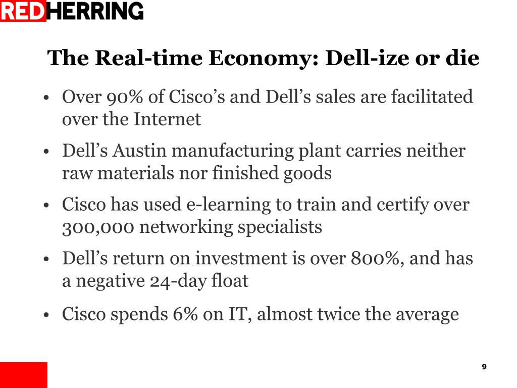 The Real-time Economy: Dell-ize or die