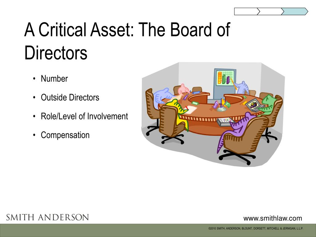 A Critical Asset: The Board of Directors