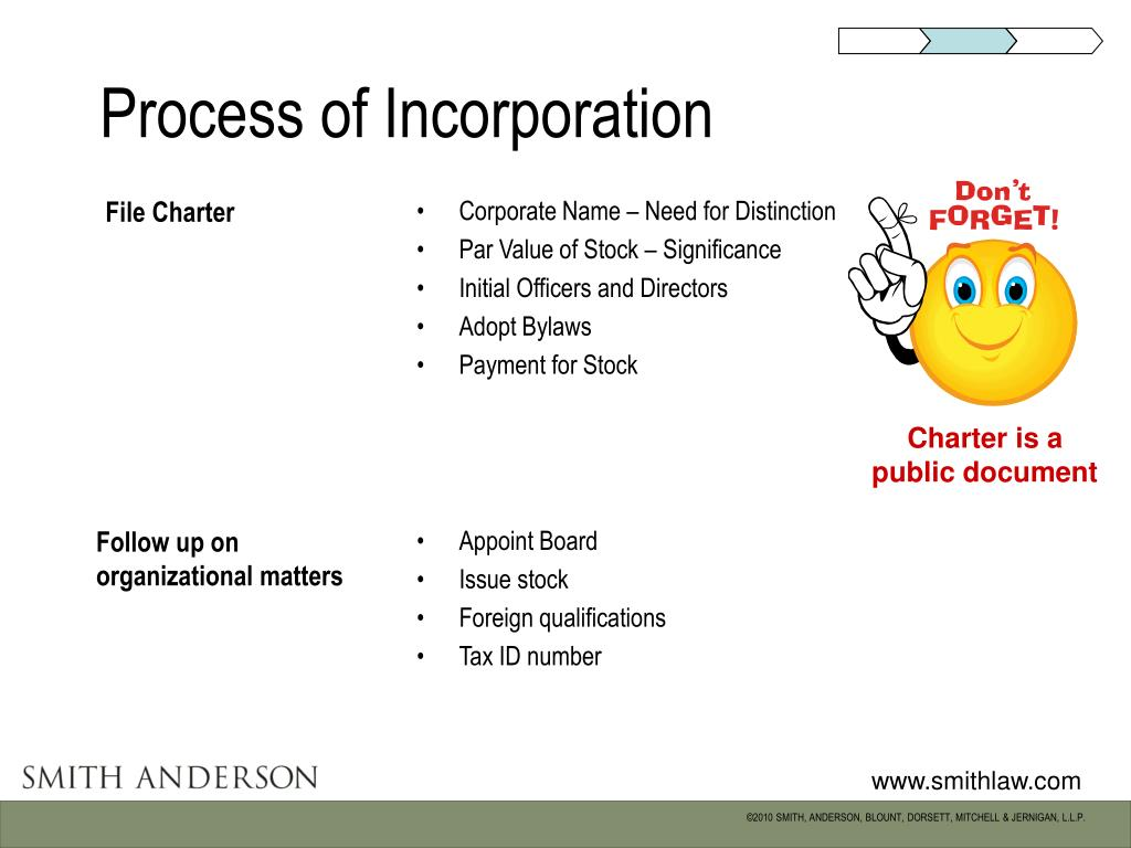 Process of Incorporation