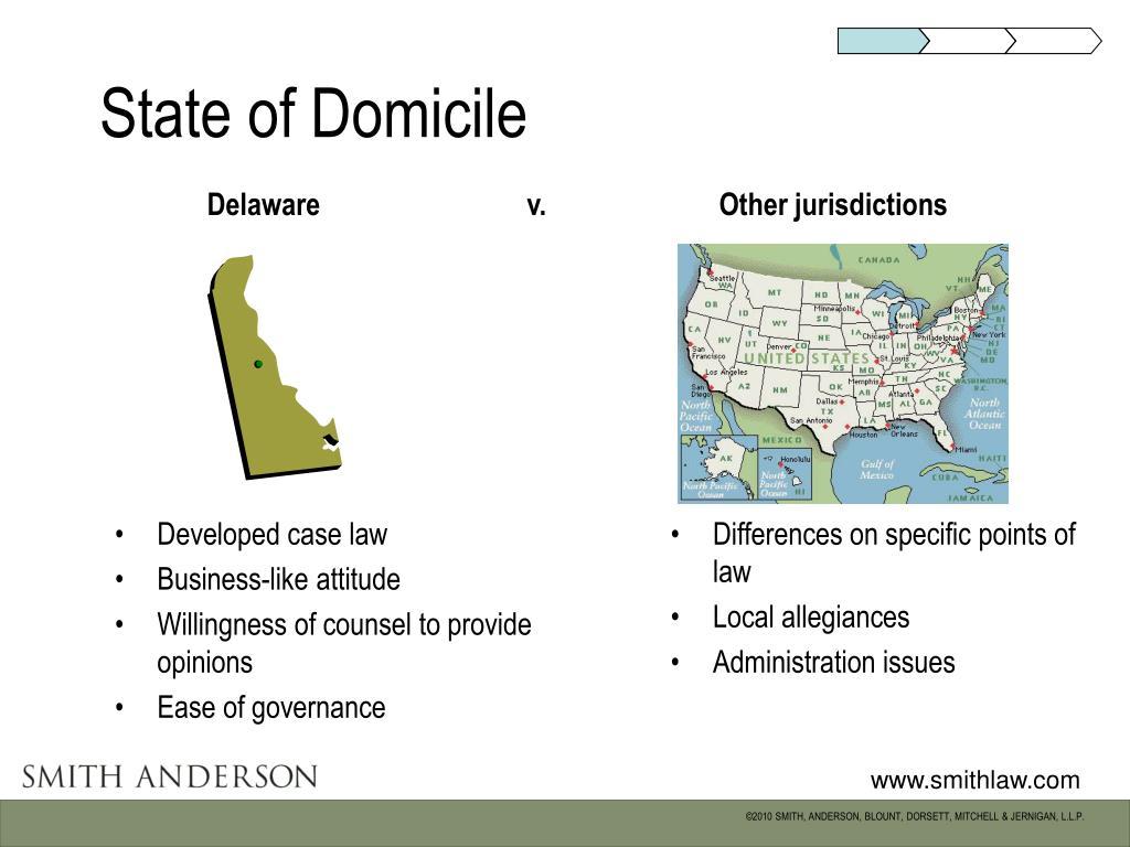 State of Domicile