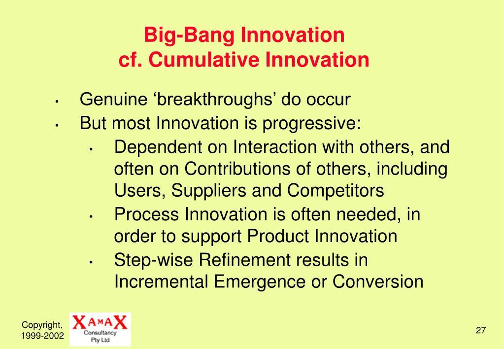 Big-Bang Innovation