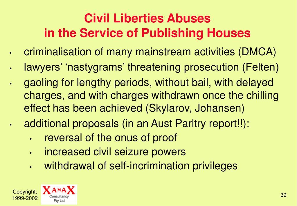 Civil Liberties Abuses