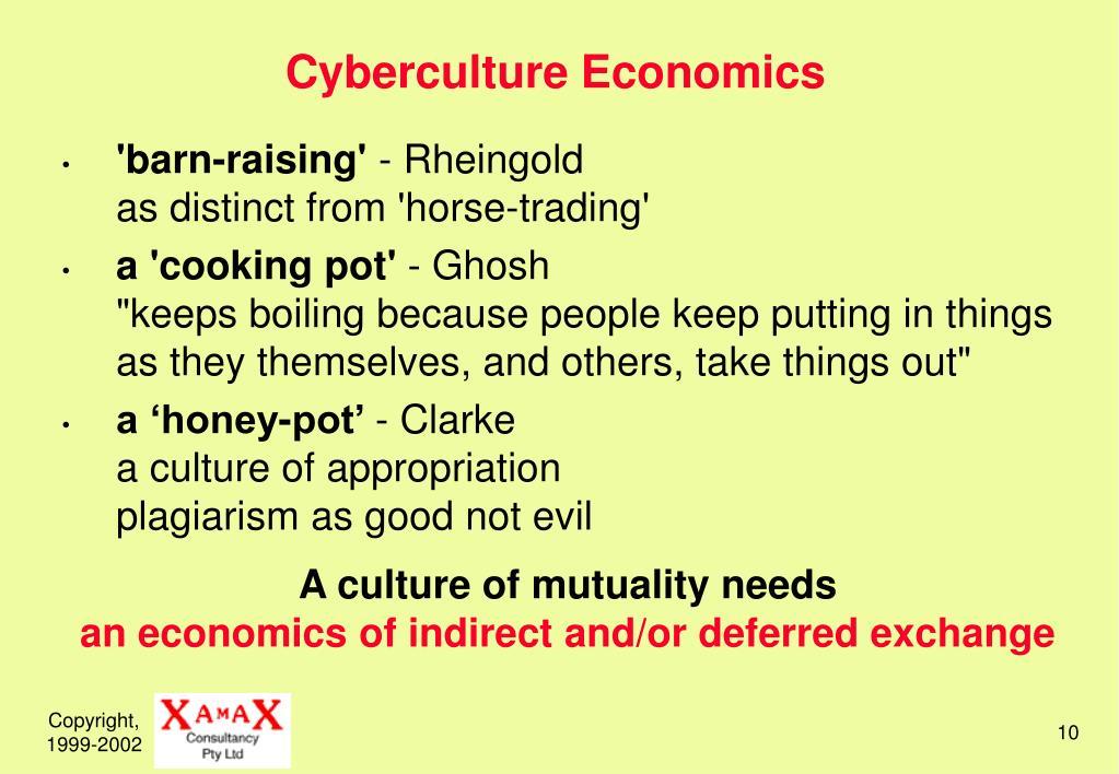 Cyberculture Economics