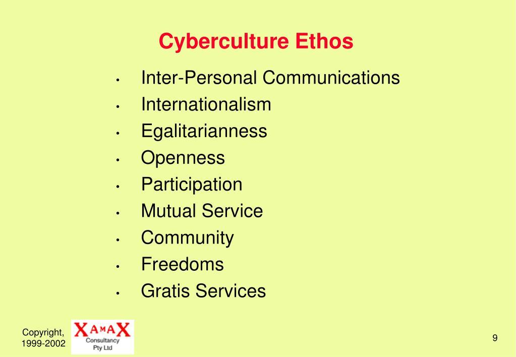 Cyberculture Ethos