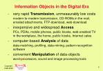 information objects in the digital era5