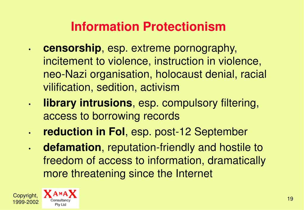 Information Protectionism
