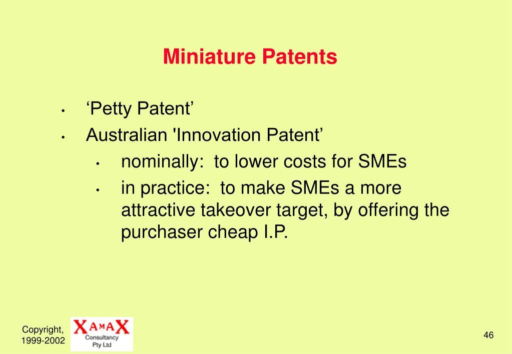 Miniature Patents