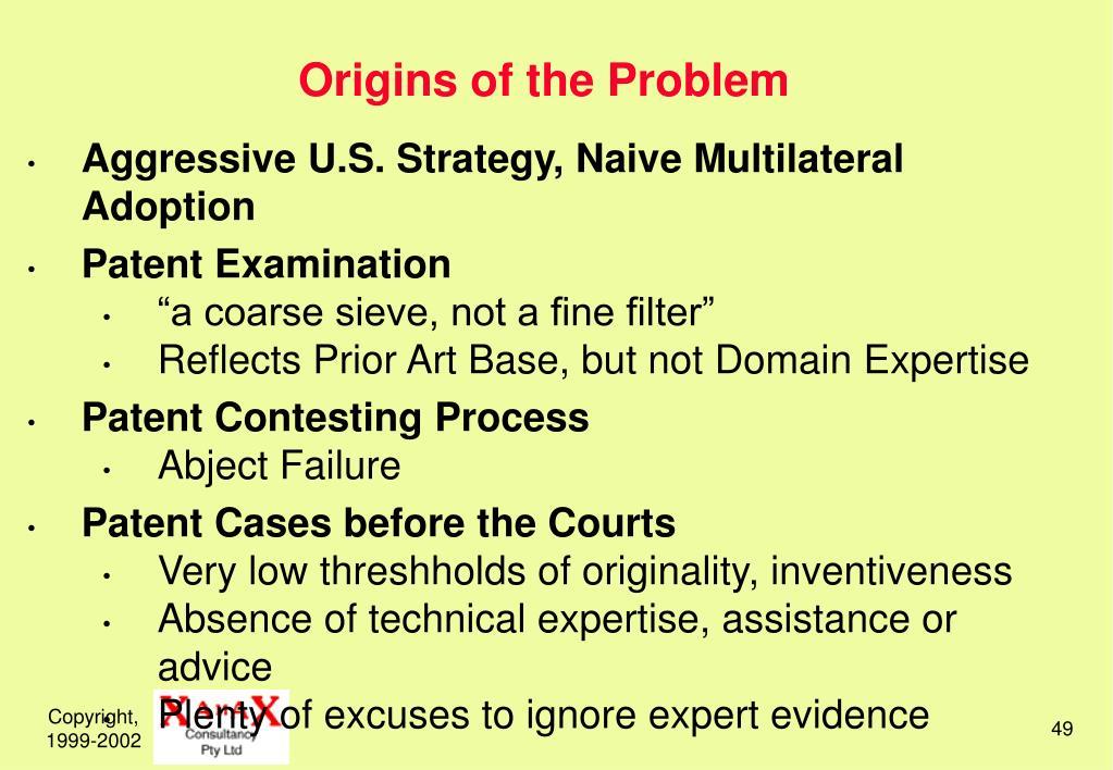 Origins of the Problem