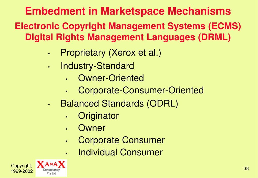 Embedment in Marketspace Mechanisms