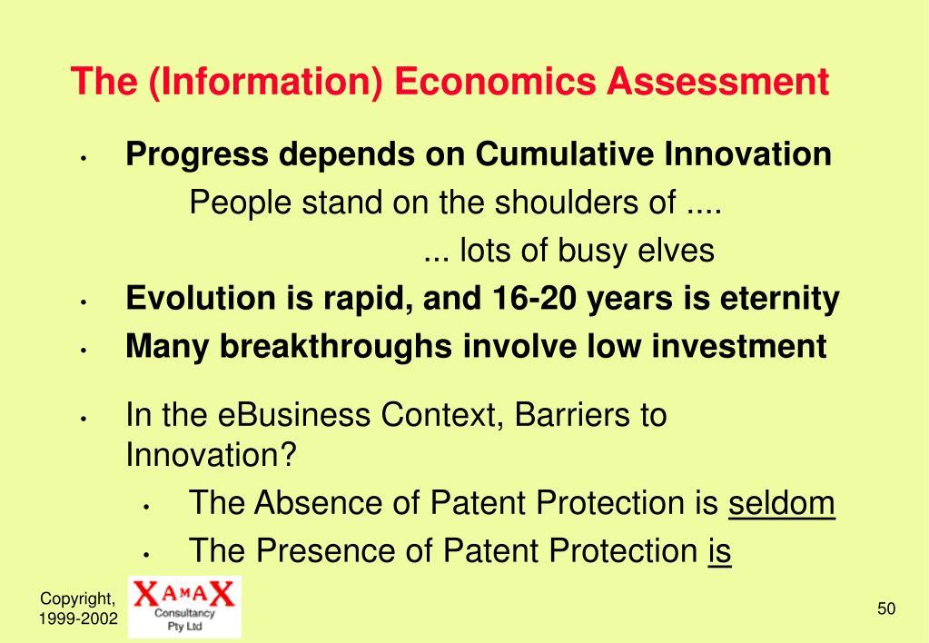 The (Information) Economics Assessment