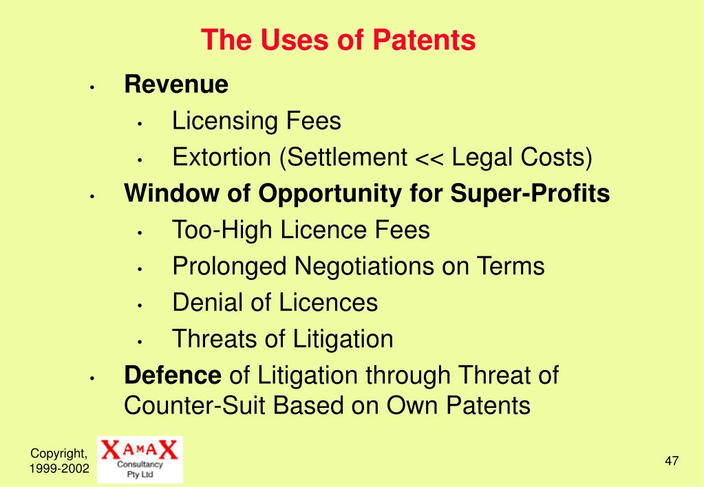 The Uses of Patents