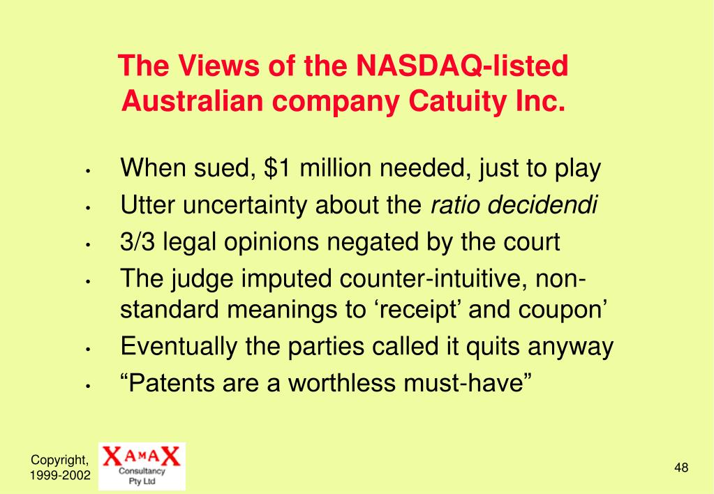 The Views of the NASDAQ-listed Australian company Catuity Inc.