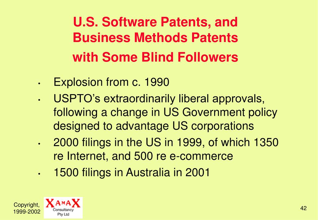 U.S. Software Patents, and