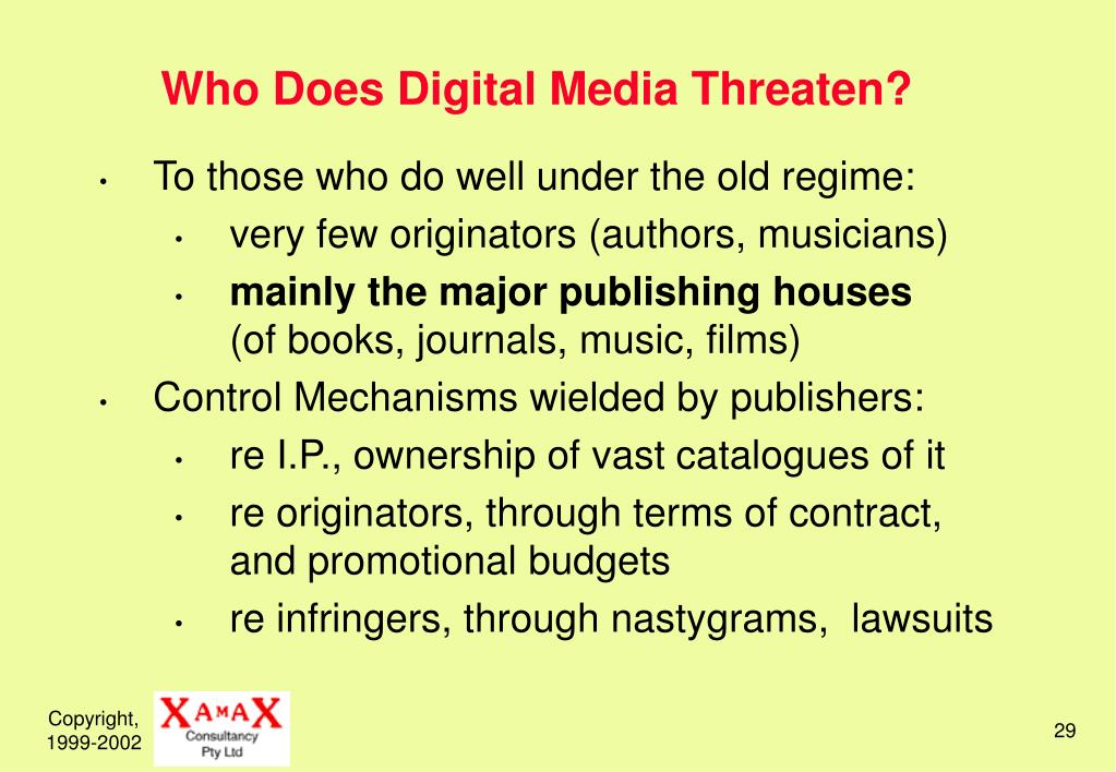 Who Does Digital Media Threaten?