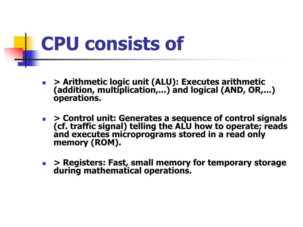 CPU consists of